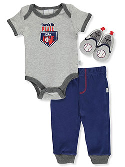 s Home Plate 3-Piece Layette Set by Duck Duck Goose in Gray/navy