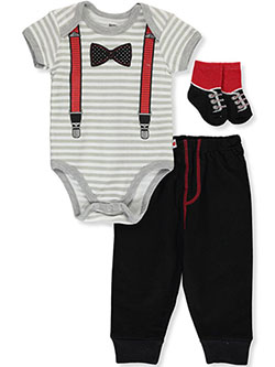 Dress Up 3-Piece Layette Set by Dapper Dude in Multi
