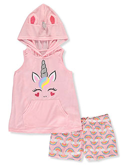Glitter Unicorn and Rainbows 2-Piece Pajamas by Delia's Girl in Multi