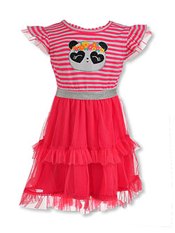Girls' Panda Tutu Dress by My Destiny in Orange