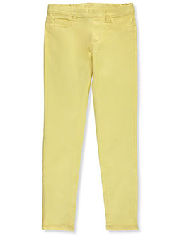 Girls' Super Stretch Twill Jeggings by Real Love in Banana, Girls Fashion
