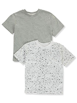 Boys' 2-Pack T-Shirts by Quad Seven in black/red and heather gray/white