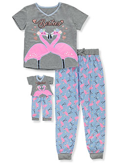 Girls' 2-Piece Pajamas with Doll Outfit by BFF & Me in Multi, Girls Fashion