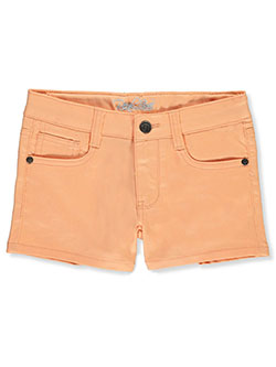Girls' Twill Shorts by Real Love in Orange, Girls Fashion
