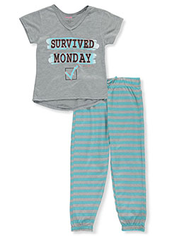 I Survived Monday 2-Piece Pajamas by Delia's Girl in Gray multi