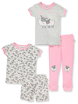 Counting Sheep 4-Piece Pajamas by Duck Duck Goose in Gray multi, Infants