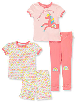 Rainbows and Unicorns 4-Piece Pajamas by Duck Duck Goose in Multi
