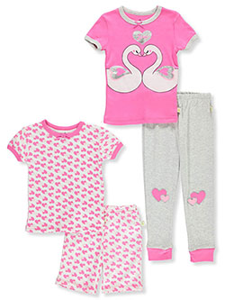Glitter Love 4-Piece Pajamas by Duck Duck Goose in Multi