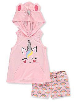Girls' Hooded Unicorn 2-Piece Pajamas by Delia's Girl in Multi