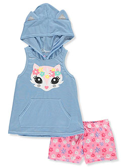 Hooded Fox 2-Piece Pajamas by Delia's Girl in Multi