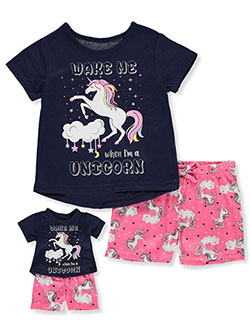 Glitter Unicorn 2-Piece Pajamas with Doll Outfit by BFF & Me in Multi