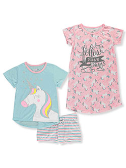 Glitter Unicorn 3-Piece Pajamas by Delia's Girl in Multi