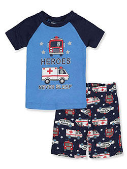 Heroes And Jets 2-Piece Pajamas by Mon Petit in blue/multi, gray multi, navy/multi and olive multi, Infants