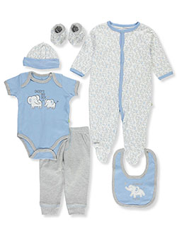 Elephant 7-Piece Layette Set by Duck Duck Goose in Multi, Infants