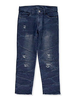 Boys' Pieced Jeans by Quad Seven in Medium blue - Jeans