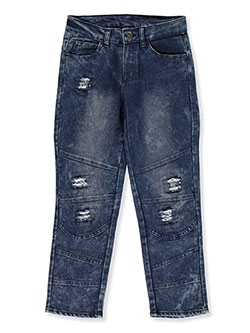 Boys' Pieced Jeans by Quad Seven in Acid blue - Jeans