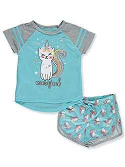 Girls' Meowgical 2-Piece Pajamas by Delia's Girl in gray multi and pink/multi