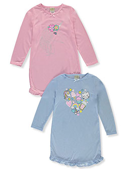Silvery Unicorn 2-Pack Nightgowns by Sweet N Sassy in Pink/multi, Girls Fashion