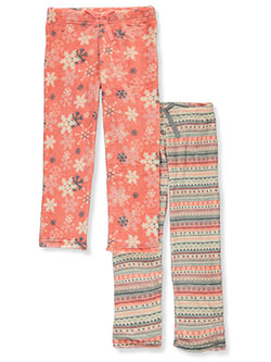 Girls' 2-Pack Lounge Pants by Delia's Girl in Coral
