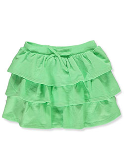 Girls' Tiered Skirt by Real Love in Green