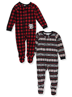 Raccoon 2-Pack Microfleece Footed Coveralls by Duck Duck Goose in Multi - Boys Fashion
