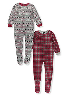 Boys' 2-Pack Footed Pajama Suits by Quad Seven in Red - Boys Fashion