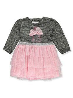 Baby Girls' Tulle Bow Dress by My Destiny in charcoal and gray multi