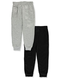 Boys' 2-Pack Joggers by Mad Game in charcoal/black, heather gray/black, navy/gray and red/black