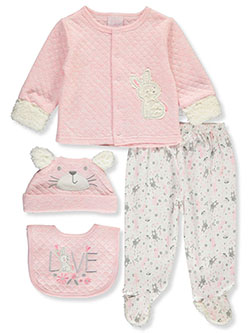 Love Quilted 4-Piece Layette Set by Little Joy in Multi