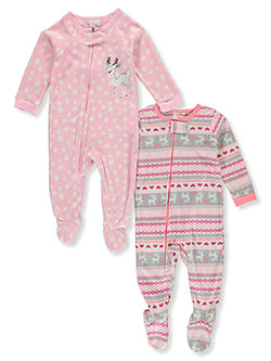 Reindeer 2-Pack Footed Pajama Suits by Duck Duck Goose in Multi, Infants