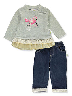 Songbird 2-Piece Jeans Set Outfit by Duck Duck Goose in Multi, Infants