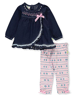 Lace Trim 2-Piece Leggings Set Outfit by Duck Duck Goose in Multi