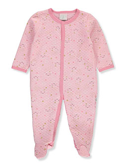 Baby Girls' Cloud Footed Coverall by Duck Duck Goose in pink/multi and white/multi - $5.99