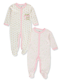 Sweet 2-Pack Footed Coveralls by Duck Duck Goose in Multi