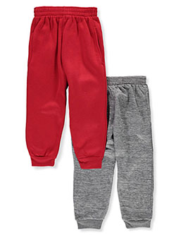 Boys' 2-Pack Joggers by Quad Seven in charcoal/black, navy/gray, red/black and red/heather gray