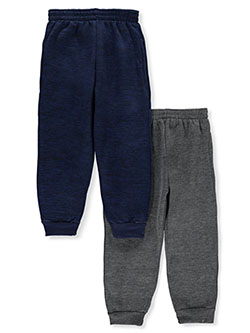 Boys' 2-Pack Joggers by Quad Seven in navy/gray, red/black and red/heather gray