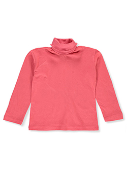 Girls' Turtleneck by Real Love in coral, hot pink, mint and periwinkle