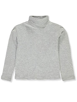 Girls' Turtleneck by Real Love in gray, navy and red