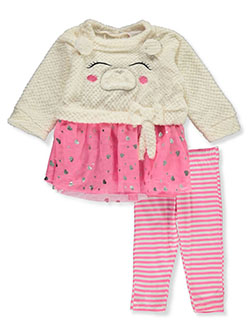 Plush Bear 2-Piece Leggings Set Outfit by Real Love in White/multi - $4.99
