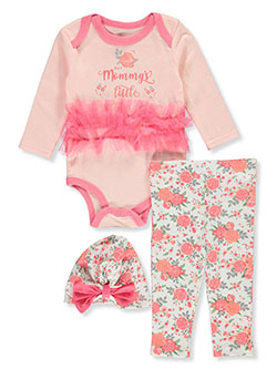 Rose 3-Piece Layette Set by Duck Duck Goose in Multi