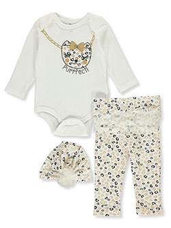 Purrfect 3-Piece Layette Set by Duck Duck Goose in Multi