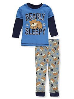 Baby Boys' 2-Piece Pajamas Set by Mon Petit in blue/multi, gray multi, navy/multi and teal/multi
