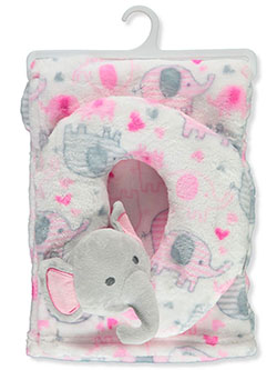 Plush Blanket with Neck Pillow by Duck Duck Goose in Multi, Infants