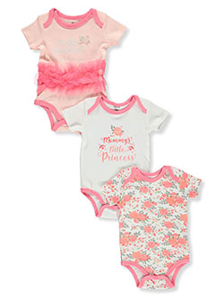 Baby Girls' 3-Pack Bodysuits by Princess Rose in Multi, Infants