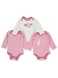 Bunny 3-Pack L/S Bodysuits by Duck Duck Goose in Multi
