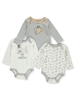 Wild 3-Pack L/S Bodysuits by Duck Duck Goose in Multi