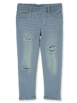 Girls' Distressed Jeggings by Real Love in Light wash