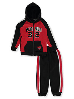 Boys' Player 2-Piece Sweatsuit Outfit by Quad Seven in Black multi