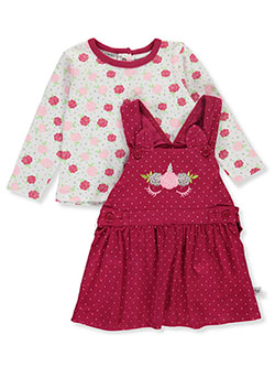 Rose Unicorn 2-Piece Jumper Set Outfit by Little Joy in Multi