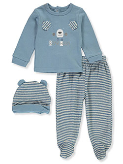 Bear 3-Piece Layette Set by Duck Duck Goose in Multi, Infants